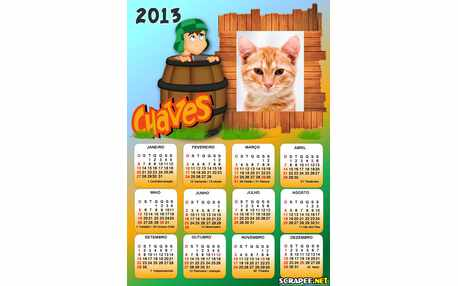Moldura - Calendario Do Chaves