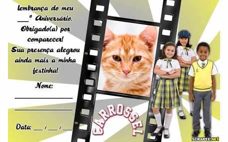 Moldura - Lembrancinha Carrossel