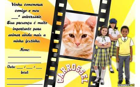 Moldura - Convite  Carrossel