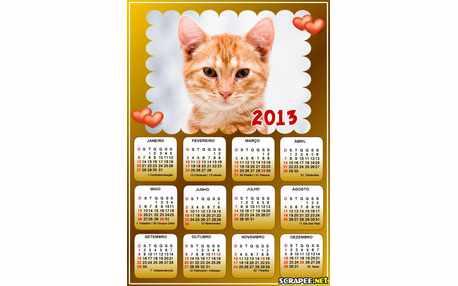 Moldura - Calendario Romantico 2013