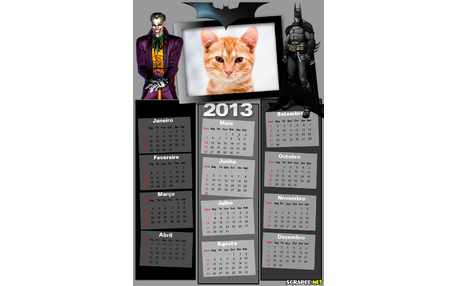 Moldura - Calendario Do Batman 2013