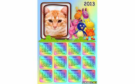 Moldura - Calendario 2013 Dos Backyardigans