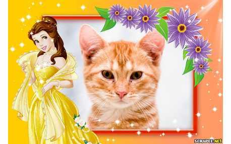 Moldura - Princesa Bela Da Disney