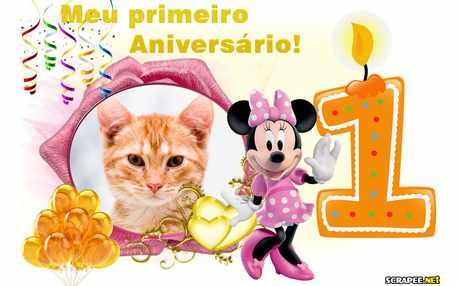 Moldura - Aniversario De 1 Um Ano Da Minnie