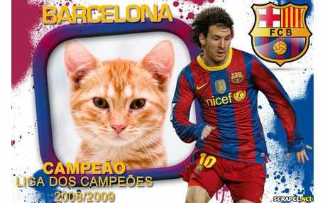 Moldura - Barcelona Campeao Liga Dos Campeoes
