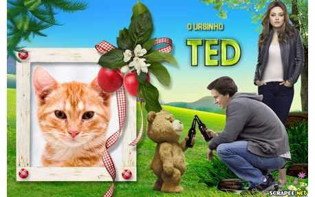 Moldura - Ursinho Ted