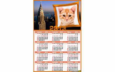 Moldura - Calendario 2013 Com Foto