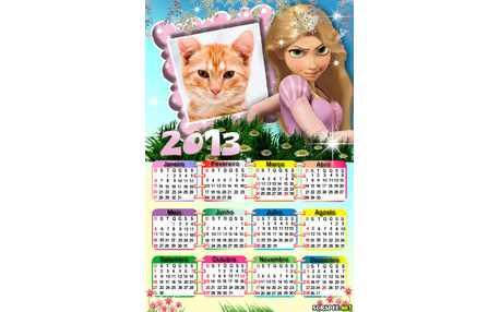 Moldura - Calendario Da Rapunzel 2013