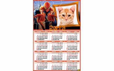 Moldura - Calendario Do Homem Aranha 2013