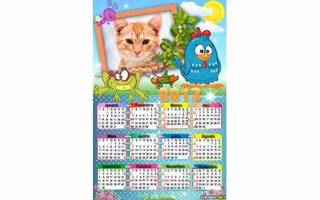 Moldura - Calendario Da Galinha Pintadinha 3