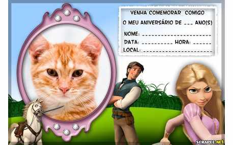 Moldura5844 Convite Rapunzel do Filme Enrolados