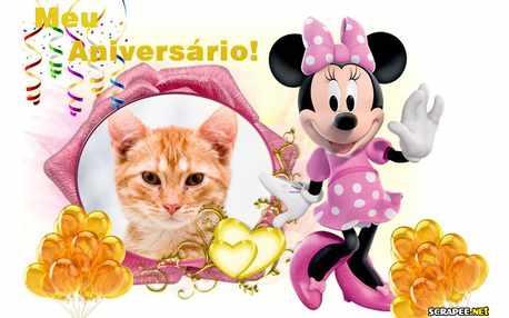 Moldura - Lembrancinha De Aniversario No Tema Minnie Mouse