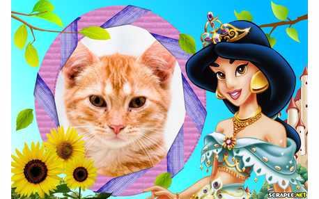 Moldura - Princesa Jasmine