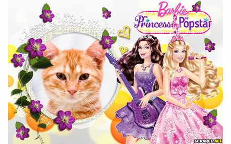 Moldura - Barbie Princes  Popstar