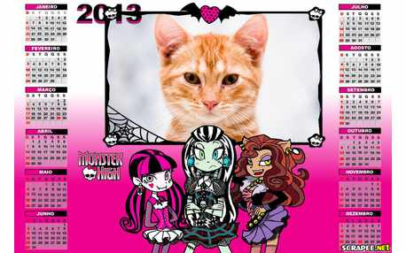 Moldura - Calendario Monster High