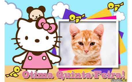 Moldura - Feliz Quinta Feira   Hello Kitty