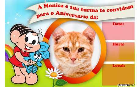Moldura - Convite Da Turma Da Monica