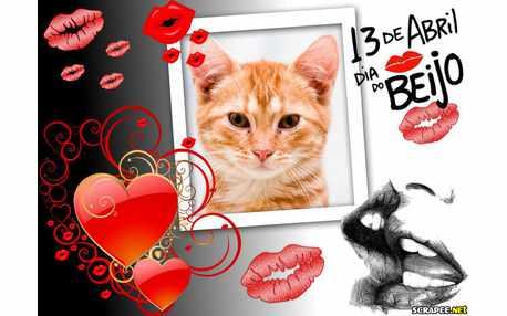Moldura - Muitos Beijos   13 De Abril