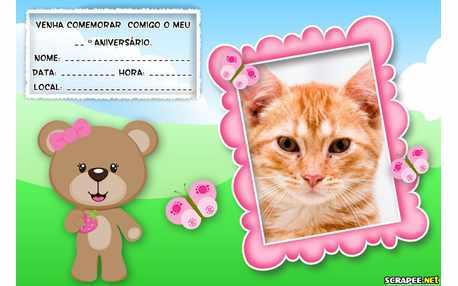 Moldura - Convite De Aniversario Da Ursa