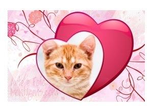 Moldura - 3d Hearts