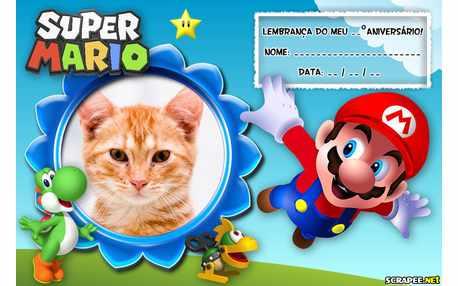 Moldura - Lembrancinha Do Mario Bros