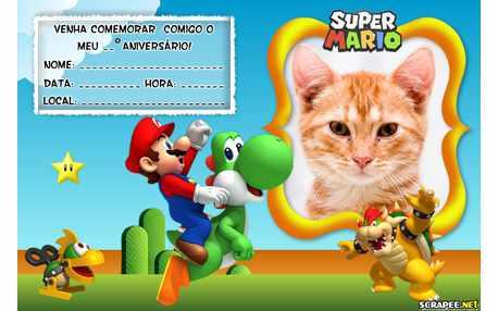 Moldura - Convite Do Mario Bros