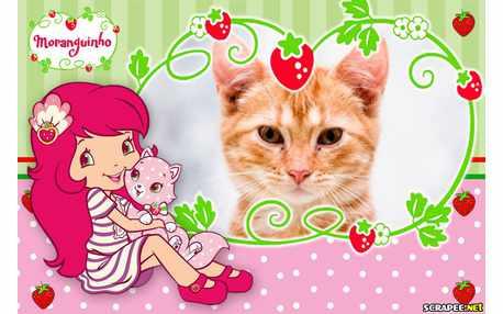 Moldura - Moranguinho E O Gatinho
