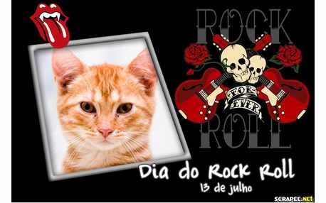 Moldura - Dia Mundial Do Rock Roll