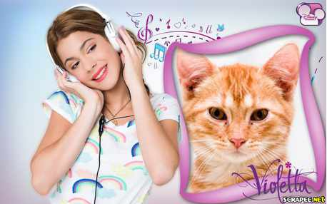 Moldura - Cantora Violetta Disney
