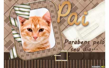 Moldura - Parabens Papai