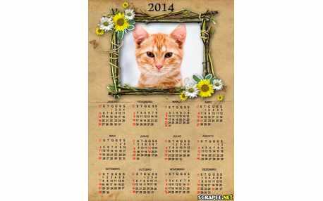 Moldura6339 Calendario 2014