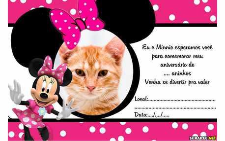 Moldura - Convite De Aniversario Da Minnie