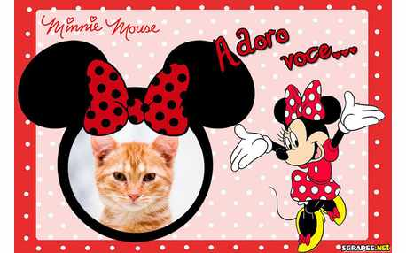 Moldura - Amor Pela Minnie