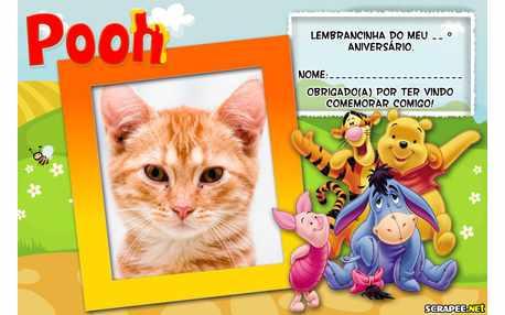 Moldura - Lembrancinha Do Pooh