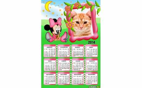 Moldura - Calendario Minnie Baby