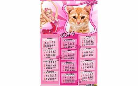 Moldura - Calendario Da Barbie 2014
