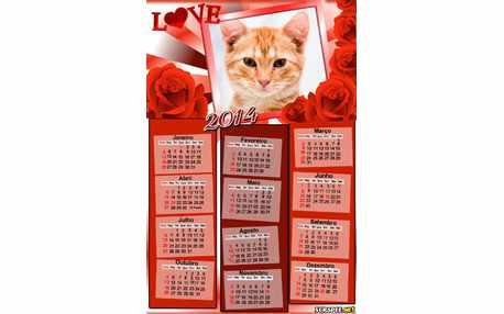 Moldura - Calendario De Rosas 2014