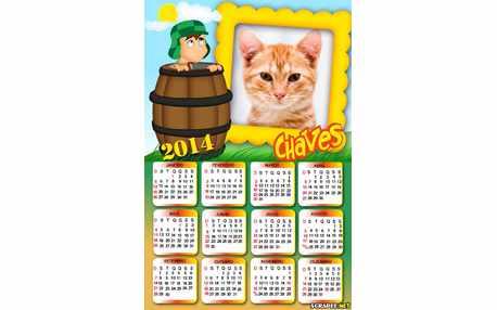 Moldura - Calendario Chaves No Barril