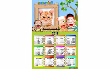 Moldura - Calendario Turma Do Cocorico 2014