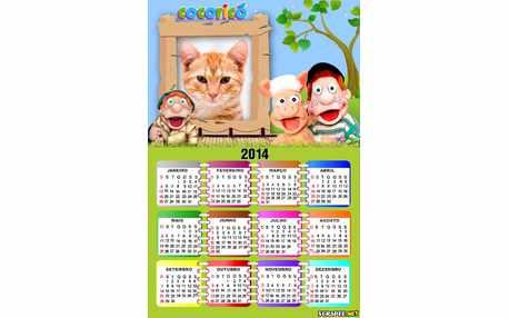 Moldura - Calendario Turma Do Cocorico 2014