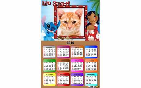 Moldura - Calendario Lilo Stitch 2014