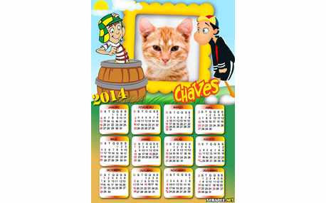 Moldura - Calendario Kico E Chaves