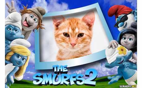 Moldura - The Smurfs