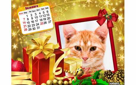 Moldura6302 Calendario de Fim de Ano