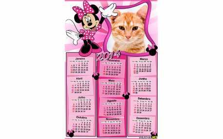 Moldura - Calendario Da Minnie