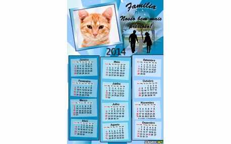 Moldura - Calendario Familia