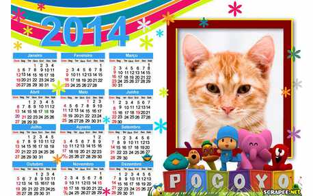Moldura - Calendario Do Pocoyo