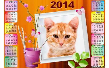 Moldura - Calendario Vaso De Flor