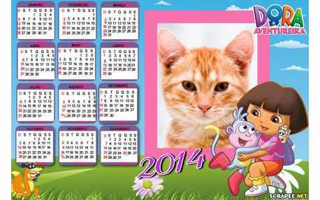 Moldura - Calendario Dora Aventureira