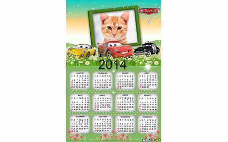 Moldura - Calendario Filme Carros